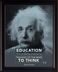 Albert Einstein Quote Education Is Motivational Poster Print