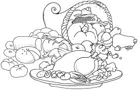 Coloring Inspirations Thanksgiving Food Pages Free 10 5 Senses 11602