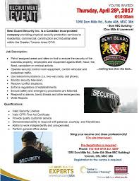 centre for education and training linkedin stop by the best guard security hiring event this thursday 28 2017 10 00am at tcet donmills must have valid security license and first aid cpr