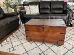 pier 1 wine storage trunk coffee table