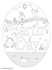 Earth day coloring pages 41. Earth Day Coloring Pages Free Printable Recycling Pictures