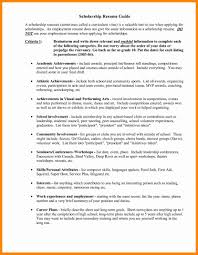 Scholarship Resume 100 Awesome Scholarship Resume Template Sample How To Write A Good 35