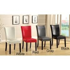 furniture of america davao parson leatherette 2 piece dining chairs set