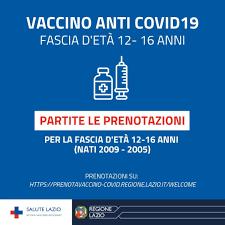 Vaccini junior, nel Lazio aprono le prenotazioni per la fascia d'età 12-16  anni - Il Caffè.tv
