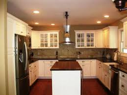 image of small u shaped kitchen design ideas with island