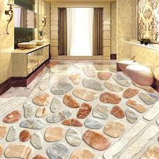 pvc tile flooring custom pebbles photo wallpaper removable floor tiles stickers waterproof self adhesive vinyl flooring murals interlocking pvc tiles garage