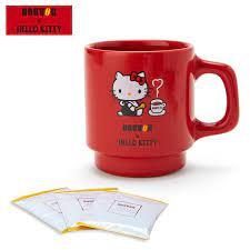 Hello kitty tumbler travel mug red with dots. Japan Sanrio Doutor X Hello Kitty Coffee Mug Coffee Usshoppingsos