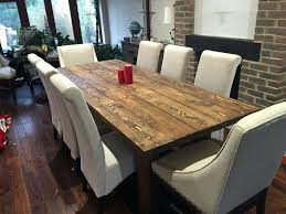 8 person dining table set chic dining room furniture manufactured wood double pedestal counter assembled 8