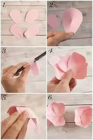 Make Flower With Paper What Are Some Creative Ways To Make Paper Flowers Step By Step Quora