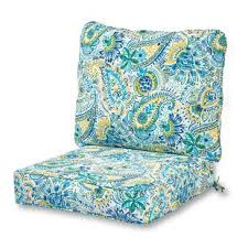 indoor outdoor lounge chair seat and back cushion