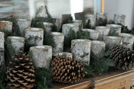 log candle holder decorations