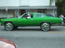 Green Cars With Big Rims Strange Ghetto Big Rim Custom Cars