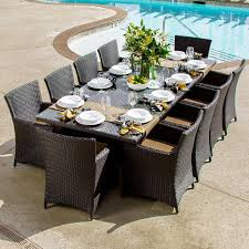 perschoice com avery island 10 person resin wicker patio dining set with extension table