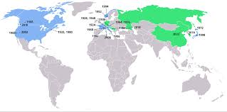 olympic games simple english the encyclopedia map of winter olympics locations countries that have hosted one winter olympics are shaded green while countries that have hosted two or more are shaded