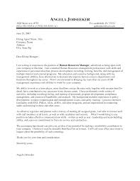 Outstanding Cover Letter Examples Hr Manager