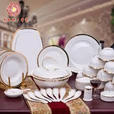 dinner sets uk online. pretty good china crockery luxury fashion dinnerware set of 56 bone porcelain on-glazed gold inlay dinner dishes plates sets uk online e