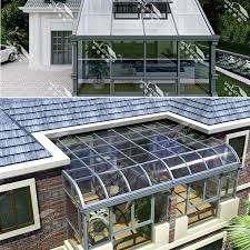 aluminum winter garden outdoor glass sun room roofing