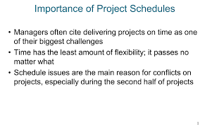 Project Schedules Importance Of Project Schedules Ppt Video Online Download