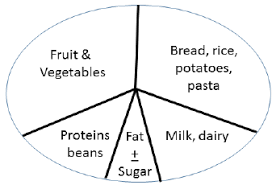 Food And Carbohydrates Chart The Pie Or Plate Design Illustrates The British Food Chart
