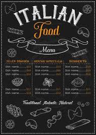 Italian Menu Stunning Restaurant Cafe Italian Food And Pasta Menu Illustration Of