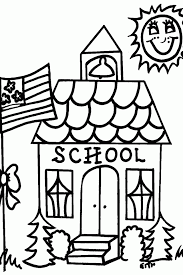Small Picture Schoolhouse Coloring Pages Coloring Home