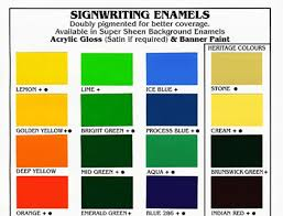 Solver Paint Chart The Gb Paint Company Pty Ltd Products Signwriting Paints