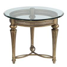 galloway glass round end table w glass top