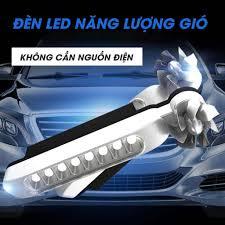 Combo 2 đèn led năng lượng gió trang trí ô tô xe máy - đèn led xanh trắng  và nhiều màu giá cạnh tranh