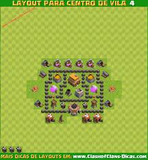 Melhores Layouts Para Clash Of Clans Centro De Vila N Vel 4