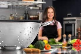 Chef Kitchen Stainless Steel Colander For Kitchen Food Washing Self Draining