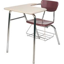 school desk and chair combo. 3000 series long arm school combo desk with book rack - 18\ and chair d