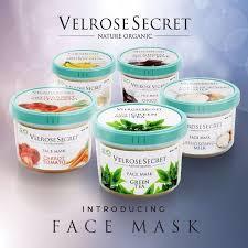 Jual Velrose Secret Face Mask Lulur Wajah Nature Organic Kota Surabaya Agogo Tokopedia