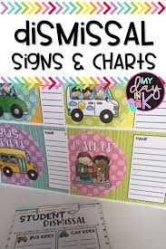 Dismissal Chart Dismissal Chart And Signs My Day In K Tpt Resources