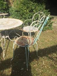 large antique french metal garden table