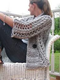 Chunky Yarn Crochet Patterns Classy Karate Sweater Knitted Extremely Chunky Pinterest Super Chunky