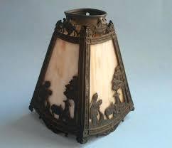 slag glass lamp shade antique miller slag glass lamp shade 4 panel figures bent slag glass slag glass lamp shade antique