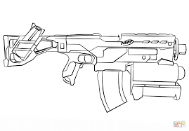 Small Picture Nerf Gun coloring page Free Printable Coloring Pages