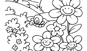 Free Springtime Coloring Pages Kids Spring For Printable Sheets