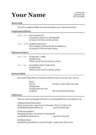 Easy Resume Template Word Cute Simple Easy Resume Templates Free