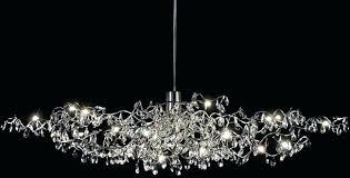 oval crystal chandelier 8 light polished