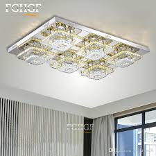 led sqaure crystal chandelier ceiling light fixture flush mounted acrylic white led aisle ceiling lamp hallway porch light diffe sizes raindrop
