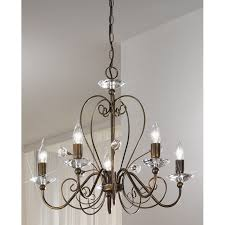 kolarz rossana crystal chandelier antique gold