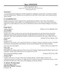 landscaper resume resume templates