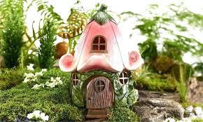 fairy garden statues. Outdoor Fairy Garden Houses House Statues