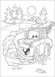 Free Christmas Car Coloring Page With Disney Cars 2 Pages 3