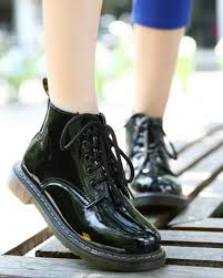 cootelili plus size botas patent leather boots women school style lace up shoes for girls red black motorcycle ankle bootsm 40