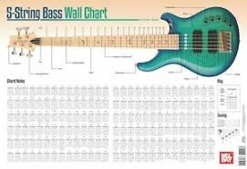 bass scales wall chart details about 5 string bass guitar wall chart learn to play arpeggiated 2 octaves chart guide