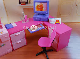 how to make barbie furniture. Free Shipping,girls Play House DIY Office Computer Desk Copier For Barbie Doll,doll Furniture Doll Accessories Barbie-in Dolls From Toys How To Make