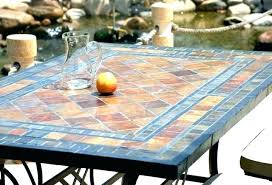 tile outdoor table. Mosaic Patio Table Furniture Tile Outdoor Home Decor Throughout Remodel 1