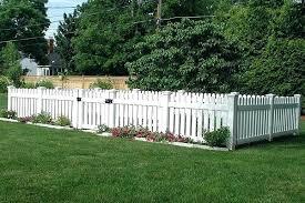 White Vinyl Picket Fences Vinyl Picket Fence Vinyl Picket Fence By